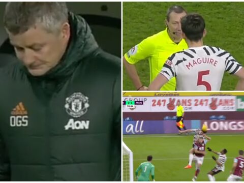 Ole Gunnar Solskjaer swears on 39th minute after Kevin Friend's shock Harry Maguire decision