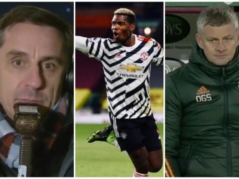 Gary Neville tells Ole Gunnar Solskjaer the position Paul Pogba needs to play in vs Liverpool