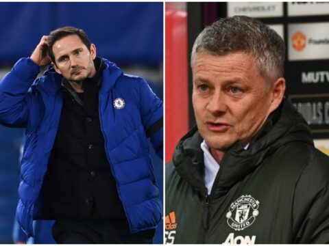 Man United boss Ole Gunnar Solskjaer reacts to Frank Lampard sacking at Chelsea