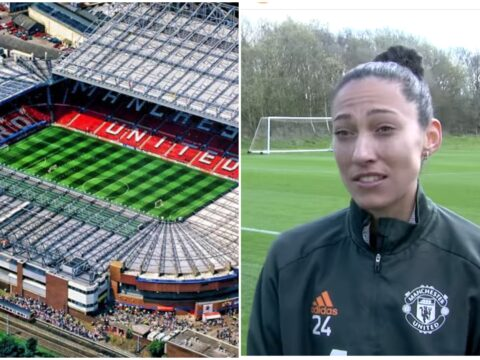 Christen Press reacts to Man United Women hosting West Ham Women at Old Trafford