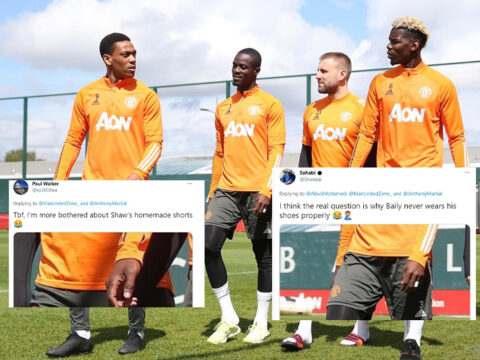Five funny things we noticed about this Manchester United training photo